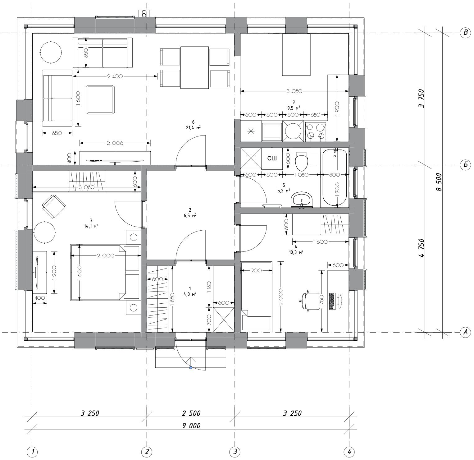 Описание дома Next-72